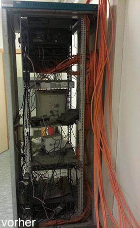 Netzwerkschrank Caos Vorher